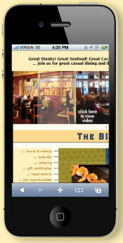 mobile restaurant website big fat fish co